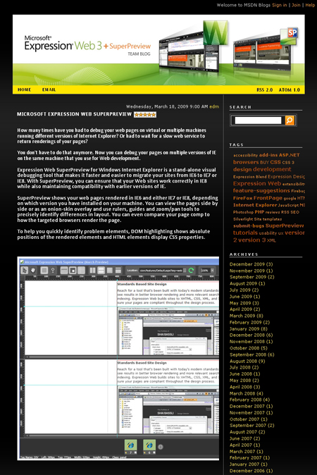 Expression Web team blog - Microsoft Expression Web SuperPreview.jpg